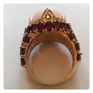 Jewelry - EXQUISITE LARGE ROSE QUARTZ RUBY RING 9